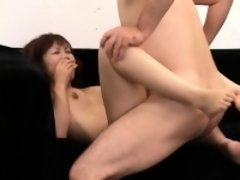 Sweet Asian babe gets her tight slit devoured and fucked by