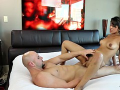 sophie leone sat on his shaft and rode it like a cowgirl