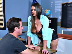 Brazzers  Sexy milf Brooklyn Chase teaches her student