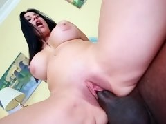 Woman with large tits with puffy nipples and a big ass humps