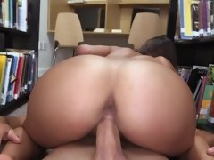 Sweet 18 year old slut gets fucked hard at the college library
