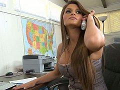 Incroyable, Américain, Brunette brune, Mignonne, Hard, Mère que j'aimerais baiser, Bureau, Secrétaire