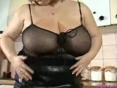 Plumpish kitten with big tits