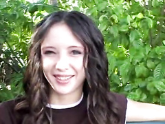 Phenomenal facial cumshot cum-shot for skinny ebony-haired teen