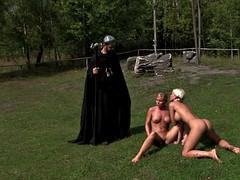 Consolador, Lesbiana, Masturbación, Al aire libre