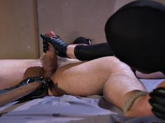 bdsm stud tugged while being restrained