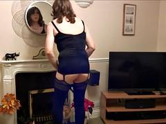 Alson - Crossdresser, Thigh Boots, Butt Plug amd Spunk