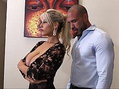 Gros seins, Blonde, Hard, Femme au foyer, Époux mari, Lingerie, Jarretelles, Épouse