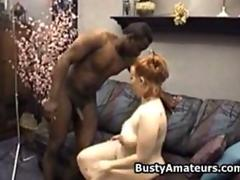 Busty bbw Fiona sucking and fucking black cock