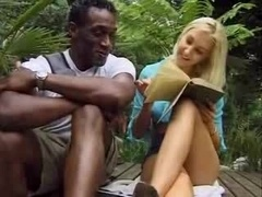 Blonde Chick Feels A Thick Black Sextoy