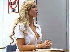Blonde, Sucer une bite, Mixte, Mignonne, Se déshabiller, Étudiant, Professeur, Adolescente