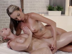 RELAXXXED - Oily lesbian pussy massage with Czech babes