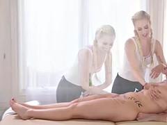69, Nana, Blonde, Hard, Lesbienne, Léchez, Massage, Huilée