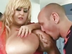 Adult bbw Blonde Get Her Bulky Tits Cum Covered
