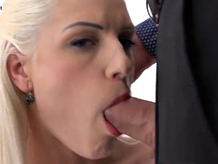 anal creampie - blanche is left with a gift after anal sex