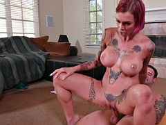 busty bombshell anna bell peaks rides the hard prick