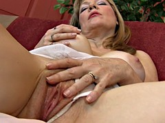Wet Pussy Of Elated Housewife