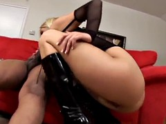 2 black cocks for slut blonde milf big asshole interracial