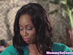 Ebony milf teaches young couple how to fuck