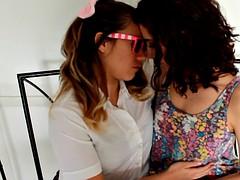 Taboo School Girls Kissing