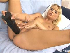 amazing blonde euro babe has a wet pussy to rub on