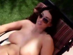 Alison Tyler Blowjob Sucking Oral Outdoor