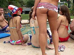 A pool party with Audrey Bitoni