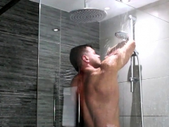 He loved getting filthy in the shower