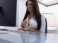 Killergram Emma Leigh is the big boobs office slut