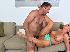 busty cougar sasha sean has her trimmed twat dicked