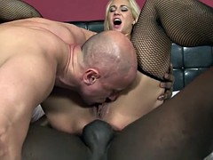 Blonde Interracial Anal Fucked Licking Cum Pussy Drilling
