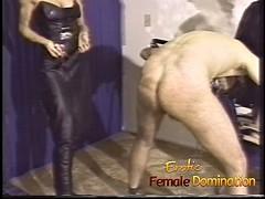 Slave endures everything that three dominant bitches throw