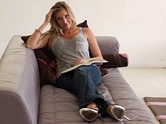 Finding Samantha reading a book
