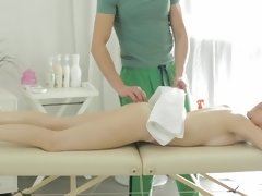 Pale-skinned patient heard about special services by this masseur