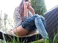 Naughty teen has a voyeur fetish