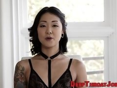 throating asian spunked asian