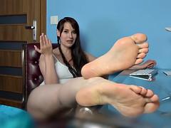 polish step sister socks/feet joi