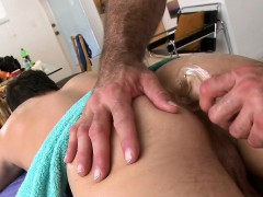 Sexy boy is delighting stud with deep anal riding
