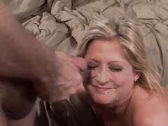 Cougar Sucks and Fucks a Stud While Cuckold Watches