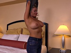 Hot big tits MILF does first porn