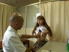 Flat-chested Oriental Schoolgirl Is