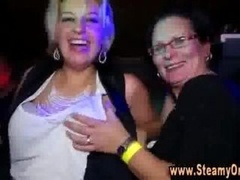 Cfnm redhead takes strippers cum cannon in her mouth while over-and-above cfnm broads dance at party