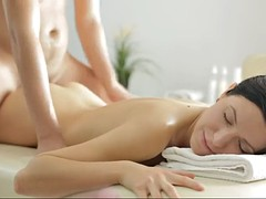 a masseur surprises a girl with wonderful sex instead of a massage