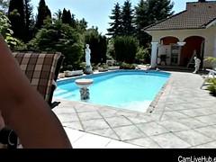 amazing big ass mom cums live on web cam