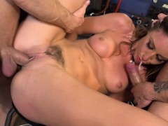 Adorable pornstar gets her pleasing bald cookie fucked hard