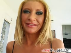 Milf Thing MILF lets two big cocks ravage her holes
