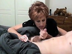 naughty-hotties net - Raunchy mom sucks and rides on a young