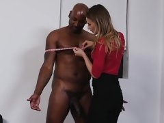 Well-groomed girl can't waste chance to ride big black dick