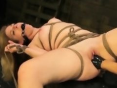 Extreme scenes of fetish bondage porn with a slutty wife