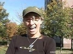 Czech number one Vid - Boobalicious Brunette Monika Would be A Pornstar